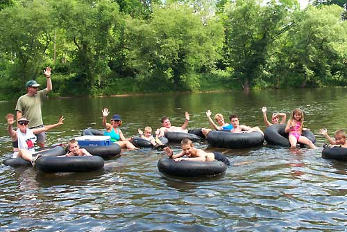 Enjoy tubing on the river.